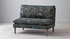 Upholstered Settee. I know it is supposed to be for kids, but the pattern is so cool!