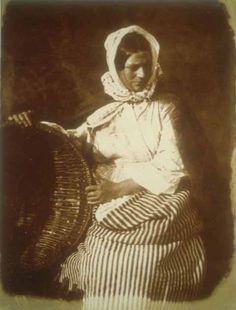 Hill & Adamson calotype of Newhaven Fishwife