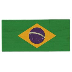 Brazil Flag Wood Flash Drive Custom Brandable Electronics Gifts for your buniness #electronics #logo #brand