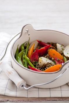 Braised French Lentils & Vegetables - inspiringtheeveryday.com