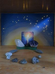 Advent nature table week 1: mineral kingdom