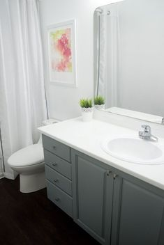 HOW TO PAINT BATHROOM CABINETS WithHEART Benjamin Moore Advance - Bathroom cabinet stores near me