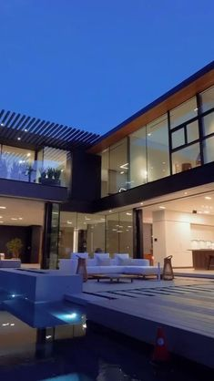 Dream House Interior, Luxury Homes Dream Houses, Dream Home Design, Modern House Facades, Modern Architecture House, Architecture Design, Architecture Interiors, Luxury Interior Design, Interior Modern