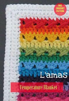 Temperature Blanket [Free Crochet Pattern] | Written in PDF. Temperature CAL. US Terms. Author: Sandra La Madeleine's Ravelry Store yarn: Loops & Threads Impeccable Solids / Aran (8 wpi) Hook: 5.0 mm/H #freepattern #crochet #crochetblanket