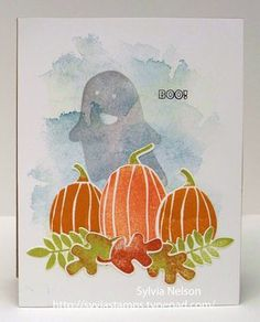 Sylvia's Stamping Corner: APPROACHING OCTOBER...BOO!....HAPPY HAUNTING!