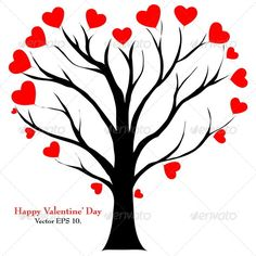 Buy Valentine Tree with Love Heart by on GraphicRiver. Valentine Tree with Love Heart, Valentine' Day concept, Vector Illustration EPS Valentine Tree, Valentine Day Crafts, Happy Valentines Day, Background Decoration, Art Drawings Beautiful, Heart Background, Valentine's Day Outfit, Funny Wallpapers, Love Heart