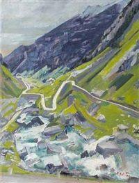 Albert Pfister Die Tremola, 1920 - 1925 Painting, Art, Switzerland, Still Life, Auction, Artworks, Abstract, Painting Art, Art Background