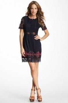 Candela Alexis Beaded Lace Trim Dress on HauteLook Party Fashion, Love Fashion, Fashion Outfits, Fashion Ideas, Autumn Fashion, How To Look Classy, Couture, Beautiful Gowns, Lace Trim