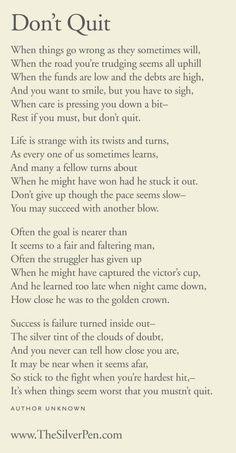 My Papa George's Fave Poem