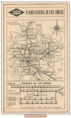 Plano de Metro de Madrid - 1945