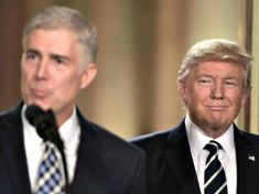 Judge Neil Gorsuch speaks, after US President Donald Trump nominated him for the Supreme Court, at the White House in Washington, DC, on January 31, 2017. President Donald Trump on nominated federal appellate judge Neil Gorsuch as his Supreme Court nominee, tilting the balance of the court back in the conservatives' favor. / AFP / Brendan SMIALOWSKI        (Photo credit should read BRENDAN SMIALOWSKI/AFP/Getty Images)