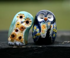 CUSTOM ORDER for RUTH Vincent van Gogh the Clay  Owl by calicoowls
