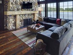 love the couch and the flooring! Actually love it all! Reclaimed Wood Flooring - Reclaimed Flooring: Elmwood Reclaimed Timber