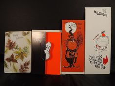 Hallmark Gibson Halloween Witch Ghost Vintage Greeting Cards Envelopes Lot of 4  #GibsonHallmark #halloweengreetingcards