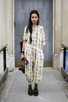 silk jumper, London street style.