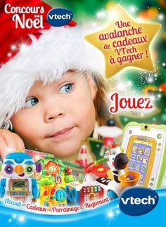 """Pour les fêtes de fin d'année, le site """"infobebes.com"""" organise un grand jeu-concours de Noël pour tenter de gagner une avalanche de cadeaux Vtech."""