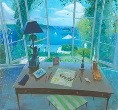 Desk by the Window – Les Jolies Eaux by Nicholas Hely Hutchinson