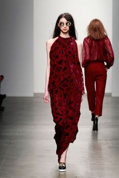 Karen Walker A rich, velvet maxi will take our dress game to new heights.