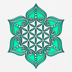 Flower of life, Lotus - Flower, Heart Chakra, green, Symbol of ...