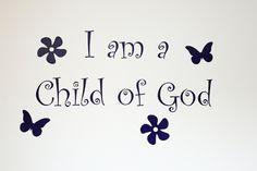 I am a child of God vinyl