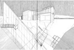 Drawing ARCHITECTURE: Jeffrey Chan, LA River Keeper's House, 1997.