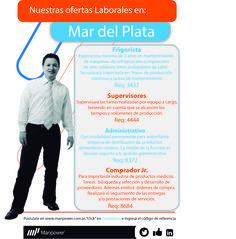Ofertas laborales en Mar del Plata.