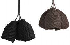 6-Designer Vasiliy Butenko, Acorn lamp made of cotton rope wrapped around a bottle.  Love the texture.