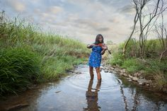 Outdoor Country Water Violin Portrait Session Photo By Shannon Guy Photography
