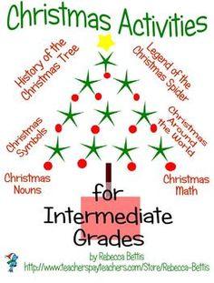 4 complete units (Christmas Around the World, History  of the Christmas Tree, Legend of the Christmas Spider, Christmas Symbols) plus extras!