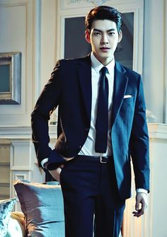 Kim Woo Bin / Has the face of a badass guy, but i thinks he's sweet.