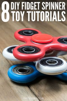 8 Awesome tutorials for DIY fidget spinner toys including lego fidget spinners, index cards fidget spinners, super cheap DIYS and a DIY from a skateboard.