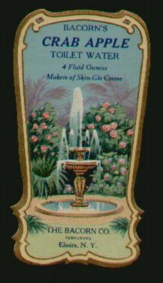 vintage perfume label images | BACORN'S Vintage CRAB APPLE Perfume Label (PER041)