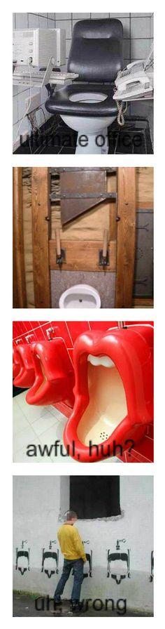 Creative toilets