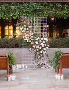 flower lavender garden party grid backdrop