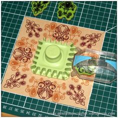 During previous demonstrations of the Inkadinkado Stamping Gearon Create and Craft TV I have mostly focused on the circular cogs and wheels so I thought that I would take a moment to give you some...