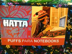 Puff para notebooks → http://showfashionworld.blogspot.com.ar/2013/09/hatta.html