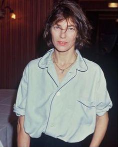 Jane Birkin in a pajama blouse