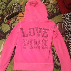 Victoria Secret PINK Hoodie Victoria Secret PINK xs bling full zip hoodie. $60. Victoria's Secret Jackets & Coats