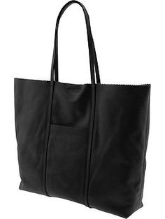 Can't decide if i like Cognac or Black better  Paige pinking shears tote | Banana Republic