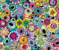 Tipsy fabric designed by Stefanie von Hoesslin (musterartig) at spoonflower