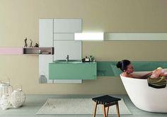Salle de bains 2014 36e8 Basin par LAGO #lavabodesign #lavabo36e8 #salledebainencouleur #salledebaindesign #lavaboenverre