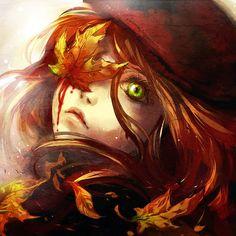 Autumn Massacre by yuumei on DeviantArt Art Anime Fille, Anime Art, Fisheye Placebo, Yuumei Art, Art Et Illustration, Image Manga, Anime Eyes, Beautiful Artwork, Character Art