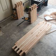 Simple box joint 2x4 bench #WoodworkingBench