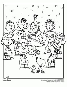 Free Charlie Brown Christmas coloring pages