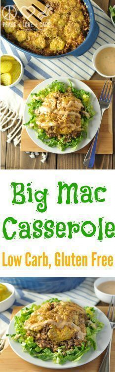 Big Mac Casserole - Low Carb, Gluten Free | Peace Love and Low Carb