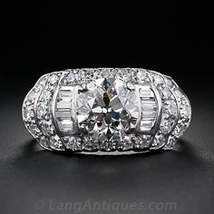 1.79 Carat Diamond Art Deco Engagement Ring circa 1950s in the 1930s style $16,250 Lang Antique & Estate Jewelry