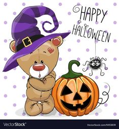 Get Halloween Bear stock illustrations from iStock. Find high-quality royalty-free vector images that you won't find anywhere else. Halloween Artwork, Halloween Vector, Halloween Cartoons, Halloween Pictures, Halloween Cards, Halloween Gifts, Happy Halloween, Halloween Cookies, Teddy Girl