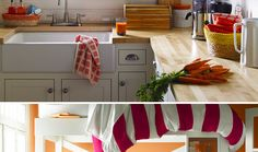 Kitchen decorated with home products, showing various storage solutions and tips from Sabrina Soto