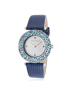 Kenneth Jay Lane Women's KJLANE-6401 Aurora Analog Display Japanese Quartz Blue Watch