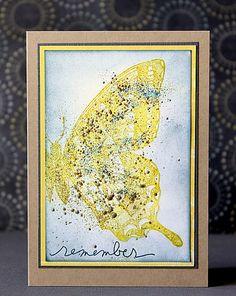 scrapperia: Schmetterlings-Variationen  #handmade #postcard #card #handmadepostcard #diy